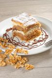 Gibanica - traditional slovene cake pie Royalty Free Stock Photos