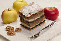 Gibanica - traditional slovenian apple cake Royalty Free Stock Images