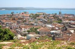 Gibara in Cuba. Village of Gibara in Cuba (in Holguin province stock image