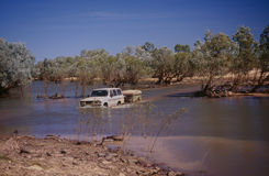 Gibb River Road in The Kimberley. Flooded river along the Gibb River Road in The Kimberley region of Western Australia Stock Photos