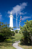 Gibb's Hill Lighthouse, Bermuda. Looking up towards Gibb's Hill Lighthouse in Bermuda stock images