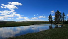 Gibbon River flowing through Gibbon Meadows in Yellowstone National Park in Wyoming USA Stock Image
