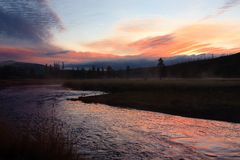 Gibbon River Sunset Royalty Free Stock Image