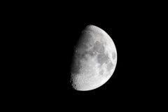 gibbous вощить ночи луны Стоковые Изображения RF