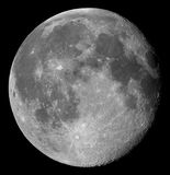 Gibbous moon. Two days after full, the Moon in its waning gibbous phase royalty free stock images