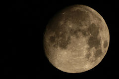 Gibbous moon Stock Image