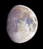 Gibbous moon in color Royalty Free Stock Images