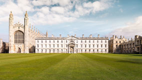 The Gibbs' Building Rear. Cambridge, UK - March 22, 2015 - Rear View of The Gibbs' Building and the Chapel of King's College, University of Cambridge. They're royalty free stock photo
