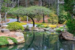 Gibbs Japanese Garden North Georgia Royalty Free Stock Images