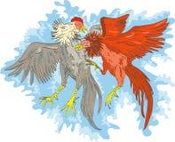 Gibier à plumes cockfighting illustration de vecteur