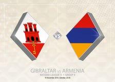 Gibilterra contro l'Armenia, lega D, gruppo 4 Competi di calcio di Europa illustrazione vettoriale