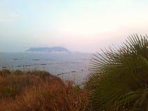 Gibilterra dalla Spagna Immagine Stock