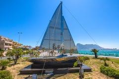 Gibilterra ed il confine spagnolo Fotografie Stock Libere da Diritti