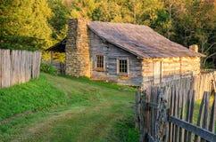 Gibon kabina, Cumberland Gap park narodowy Zdjęcie Royalty Free