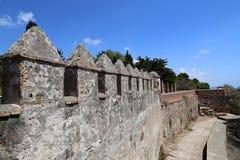 Gibralfaro城堡在马拉加,安大路西亚,西班牙 免版税库存图片