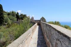 Gibralfaro城堡在马拉加,安大路西亚,西班牙 图库摄影