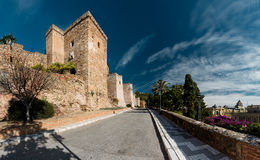 Gibralfaro城堡 图库摄影