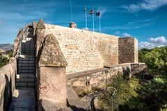 Gibralfaro城堡 库存图片