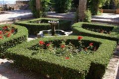 Gibralfaro Castle fountain in Malaga, Andalusia, Spain Royalty Free Stock Photos