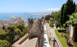 Gibralfaro Castle in Malaga, Andalusia, Spain Royalty Free Stock Images