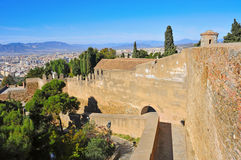 Gibralfaro Castle in Malaga, Spain Stock Images