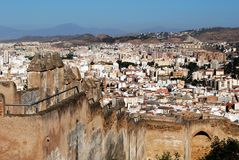 Gibralfaro castle, Malaga, Spain. Stock Images