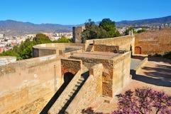 Gibralfaro Castle in Malaga, Spain. A view of inside Gibralfaro Castle in Malaga, Spain Royalty Free Stock Image