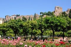 Gibralfaro castle, Malaga, Spain. Stock Photography
