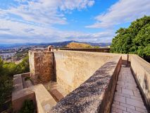 Gibralfaro Castle in Malaga, Spain Stock Image