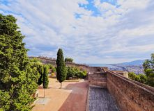 Gibralfaro Castle in Malaga, Spain Stock Photography