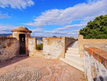 Gibralfaro Castle in Malaga, Spain Royalty Free Stock Image
