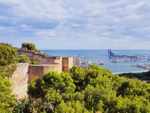 Gibralfaro Castle in Malaga, Spain Royalty Free Stock Images