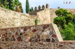 Gibralfaro forteca Malaga, Costa Del Zol, Andalusia, Hiszpania obrazy stock