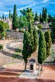 Gibralfaro fortress (Alcazaba de Malaga) Royalty Free Stock Photography
