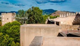 Gibralfaro fortress Stock Photos
