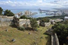 Gibralfaro Fortress of Malaga, Spain Royalty Free Stock Images