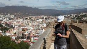 Gibralfarokasteel van Malaga stock footage