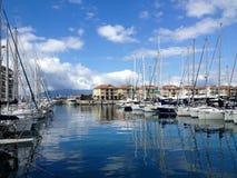 Gibralt游艇小游艇船坞  免版税图库摄影