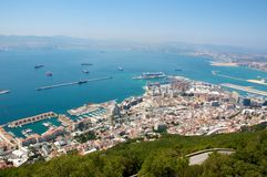 Gibraltar. View of the city of Gibraltar Royalty Free Stock Photos
