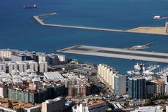 Aerial view of Gibraltar. Beautiful Aerial View of Gibraltar City royalty free stock photography