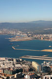 Gibraltar. Beautiful Aerial View of Gibraltar royalty free stock photo