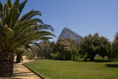 Gibraltar. View from linea De La Concepcion Royalty Free Stock Photography