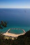 Gibraltar, aandachtspunten in het Britse gebied overzee op het zuidelijke spit van het Iberische schiereiland, Stock Afbeelding