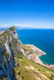 Gibraltar aerial view Stock Images