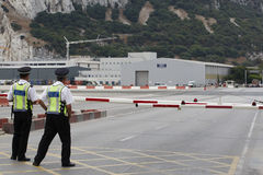 Gibraltar Airport Royalty Free Stock Photo