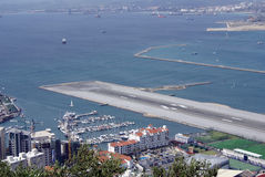 Gibraltar Airport Stock Images