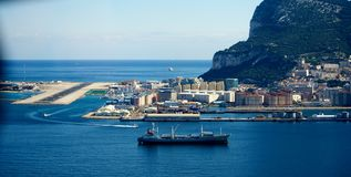 Gibraltar airport Stock Photos