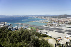Gibraltar airport Royalty Free Stock Photo