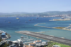 Gibraltar airport Royalty Free Stock Images