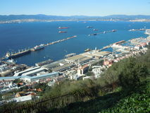 Gibraltar Bay and harbour Stock Photos